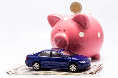 money box: car, money box and cash