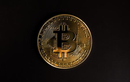 bitcoin symbol on black background
