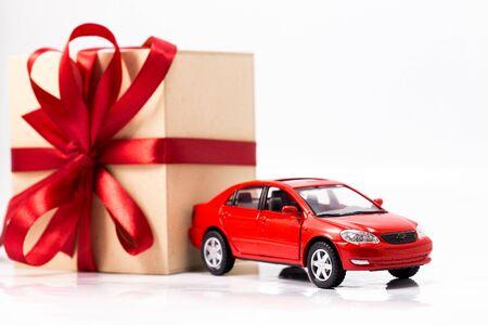 wood box gift and car