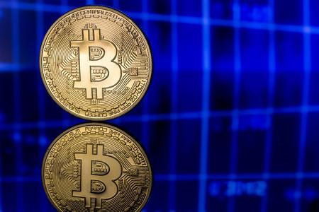 e cash: one golden bitcoin on chart