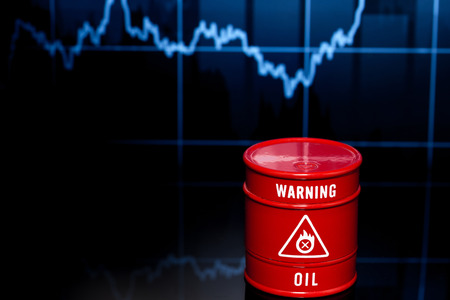 brent crude: barrel of oil on the blue chart