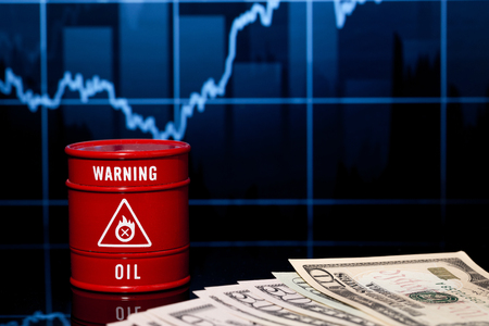 brent crude: barrel of oil and dollar