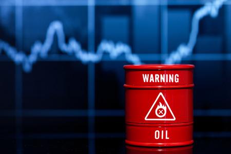 brent crude: barrel oil on blue chart