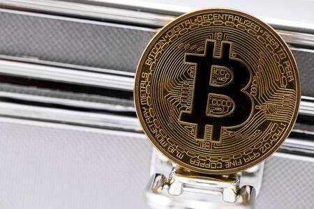 upturn: one golden bitcoin