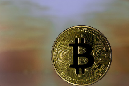 one golden bitcoin