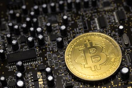 Bitcoin mijnbouw met een computer grafische kaart