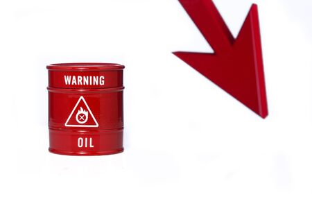 bidding: barrel of oil on red chart