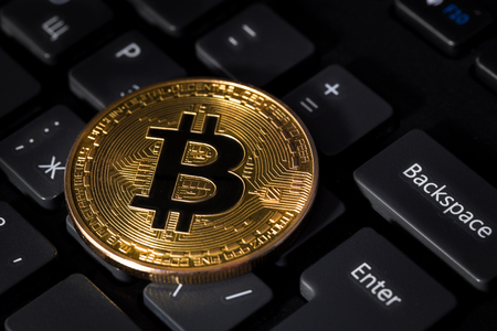 bitcoin and keyboard