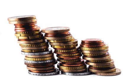 rows of coins, business Фото со стока
