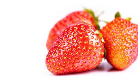strawberries berry on white background, closeup Stock Photo
