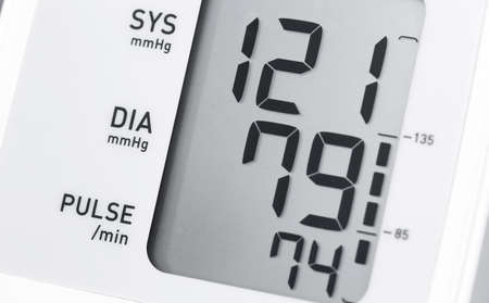 medical electronic included tonometer with normal blood pressure readings Stock Photo