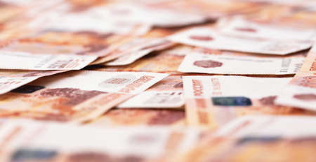 five thousand russian money, rubles banknotes