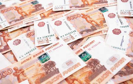 five thousand russian rubles banknotes closeup