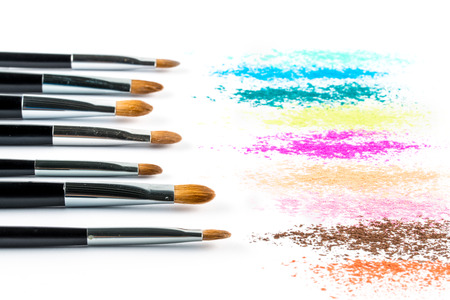 blusher: Multi Colored Powder Eyeshadow with Brush, fashion beauty  tool blusher
