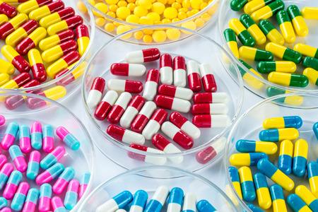 medicament: colorful medicament in Petri Dish,  Healthcare And Medicine healthcare medicament