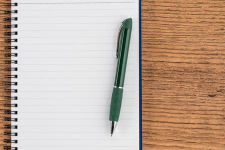 memorandum: Lined notebook and pen, checklist  memo reminder memorandum diary