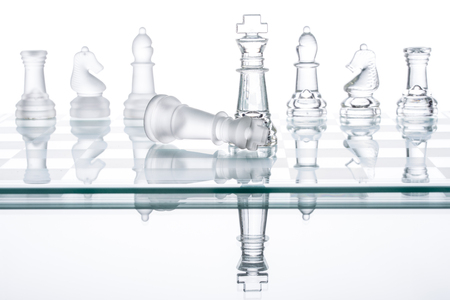 conquering adversity: Checkmate Strategy on chess board, business War Winning, topple  Conquering Adversity