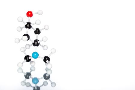 Estructura molecular en el fondo blanco