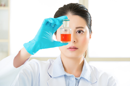 pathologist: Asian female scientist finally breakthrough new cure in laboratory