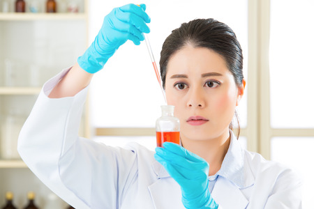 frontiers: Asian female scientist remix new medical frontiers in laboratory