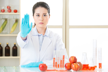 not a problem: dont ever try it, the gmo food is not the cure for human food problem Stock Photo