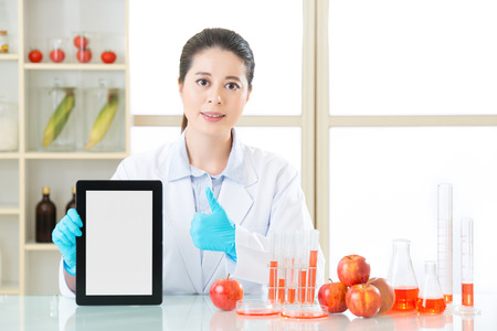 genetic food modification: genetic modification food information are everywhere on internet by use digital tablet