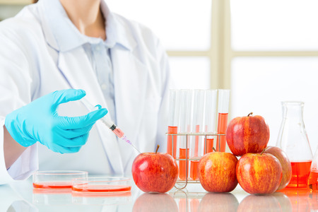 genetic food modification: maybe one day the genetic modification food will be more healthy Stock Photo