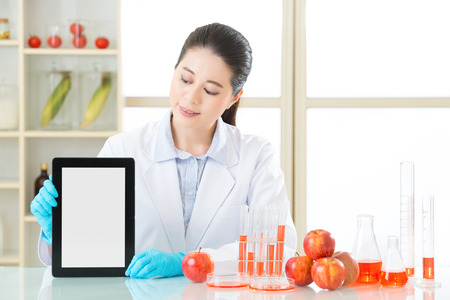 genetic food modification: you can find genetic modification food information on internet by digital tablet