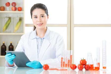 digital tablet is very important tool for gmo food research in lab