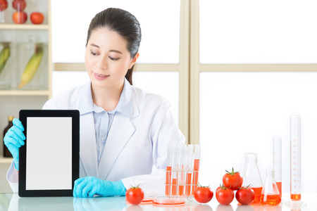 you can find genetic modification food information on internet by digital tablet