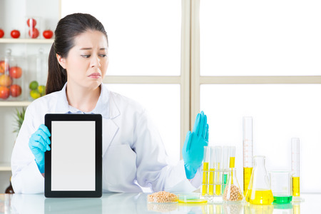 modification: you can discover genetic modification food information on internet by digital tablet