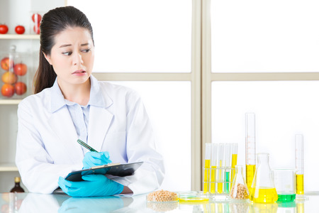 genetic food modification: scared to see the test result of  genetic modification food in laboratory
