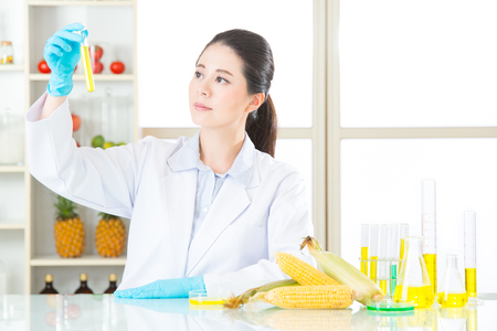 genetically modified crops: human try to make better genetic modification food in laboratory