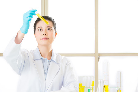 Laboratory analysis of soya gmo food for test in laboratory Stock Photo