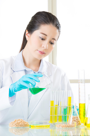 genetic modification food are all develop from professional laboratory Stock Photo