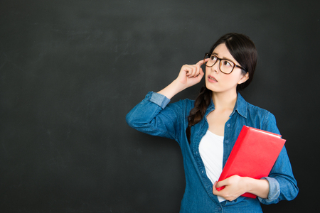 about you: If you spend too much time thinking about a thing, youll never get it done Stock Photo