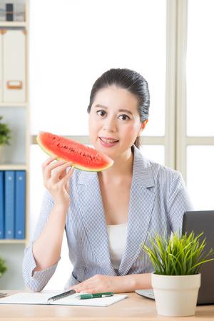 sensation: the sweet sensation of success just like having sweet watermelon in summer Stock Photo