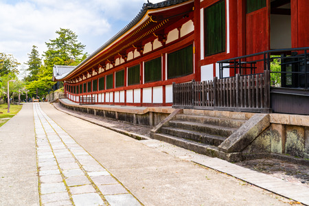 a Japanese traditional cultural temple with a wonderful weather