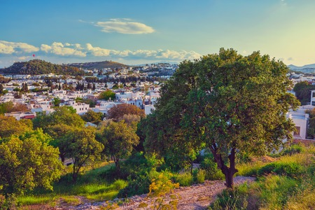 touristic: Touristic place Bodrum town in summer Turkey