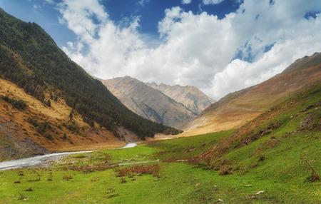 svan: Khevsureti mountains Georgia village in the country Stock Photo