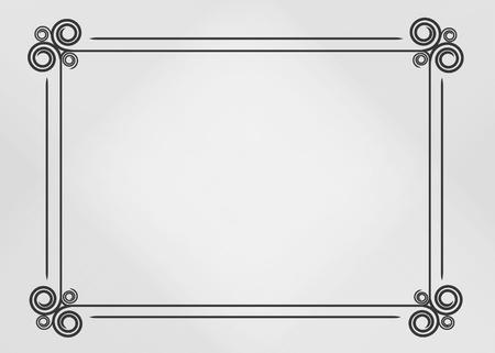calligraphy ornamental decorative frame Stock Vector - 11316035