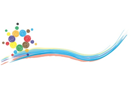 scroll border: illustration contains the image of abstract background  Illustration