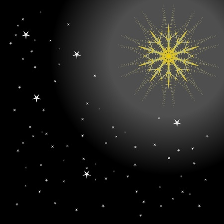 The abstract background star in dark night. Vector