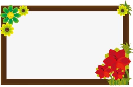 beautiful flower frame Illustration