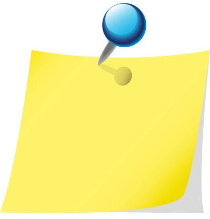 memo sheet with pin. Vettoriali