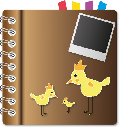 Cute cover notebook and bookmark. photo