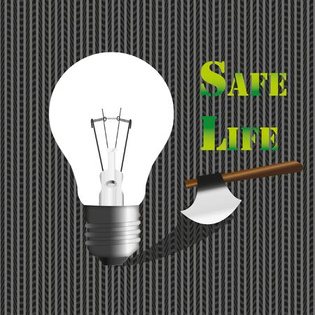 The Lamp in concept safe life safe energy by illustrations. Stock Illustration - 11570665