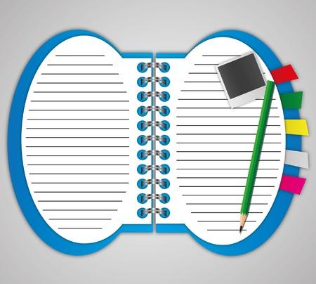 Notebook Design by illustrations. Stock Illustration - 11570636