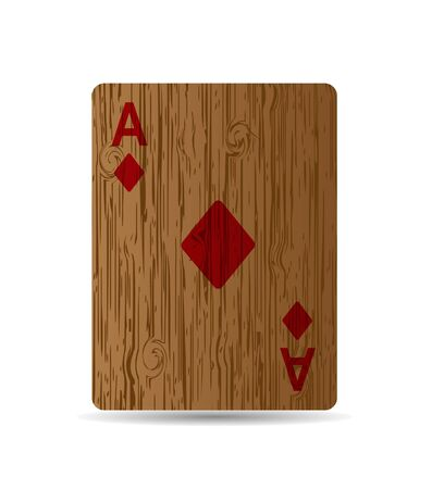 jack of diamonds: The diamonds card on wooden background. Stock Photo