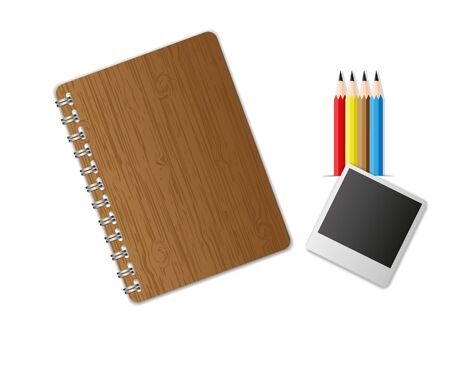 Education equipment notebook and pencil set. Stock Photo - 11570669